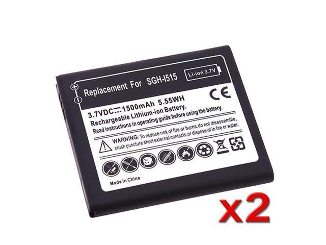 Insten Black 2x New 1500mAh Li-Ion Replacement Battery Compatible With Samsung© Galaxy Nexus CDMA SCH-I515 654099