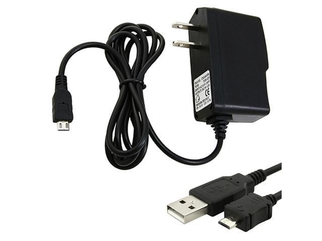 USB Cable+Home Travel Charger compatible with Blackberry Bold 9930 9900 9780 9650 9700 9800