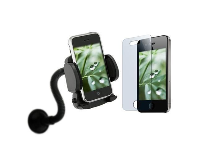 Car Mount Holder+2 LCD Protector Compatible With iPhone®  4 4S 4G 4Gs G