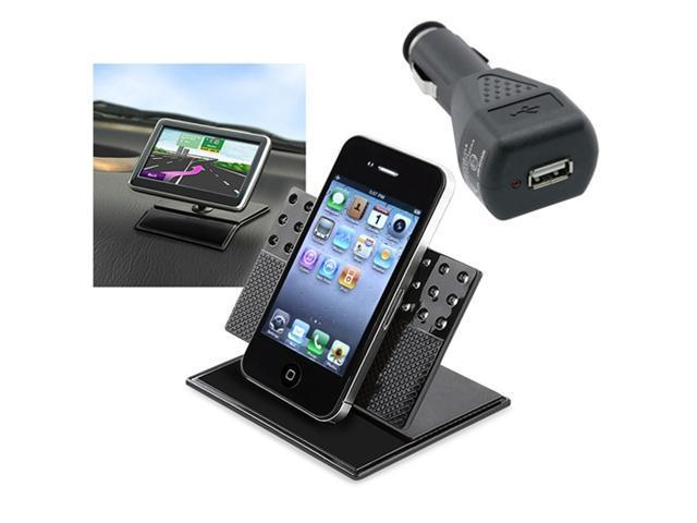 Car Holder Cradle+Black Charger Accessory Kit For Apple® iPhone® 4 4G Hd Os 4S 3GS