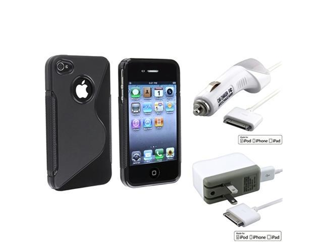 MYBAT AC+Car Charger+S Shape Cover for iPhone® 4 4S 4G 4GS