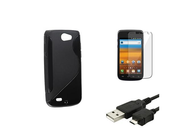 Black S Curve Hybrid Gel Skin Case+LCD Film+USB compatible with Samsung© Exhibit 2 4G T679