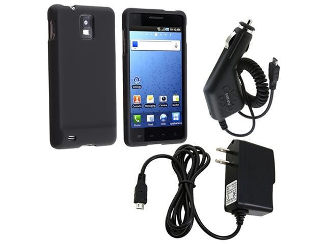 Black Case+Car+Home Charger compatible with Samsung© Infuse 4G i997