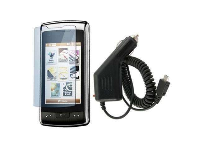 Screen Protector+Car Charger compatible with LG enV Touch VX11000