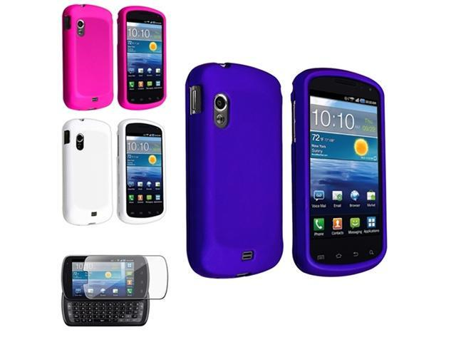 3x Blue+Pink+White Hard Case+Screen Protector compatible with Samsung© Stratosphere i405