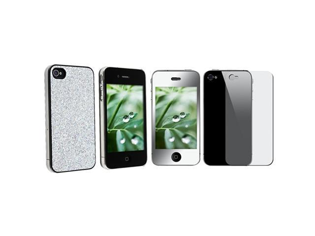 BLING CASE+MIRROR PROTECTOR compatible with VERIZON iPhone® 4 4S G 4TH