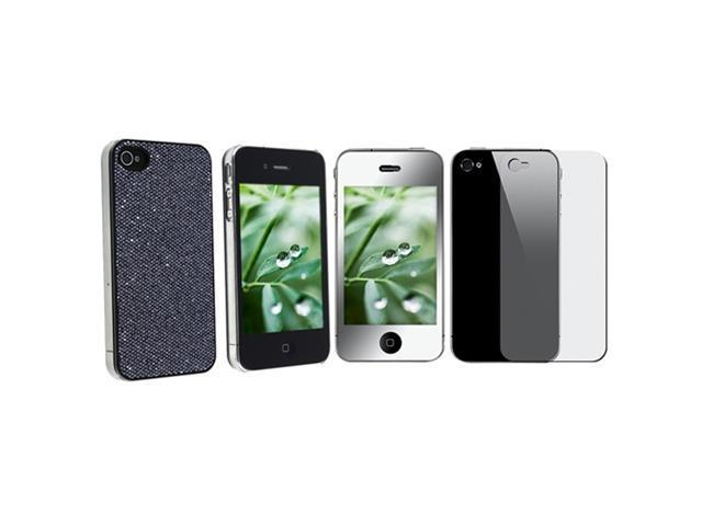 BLING COVER+MIRROR PROTECTOR Compatible With iPhone® 4 4S 4G 4GS G 4TH