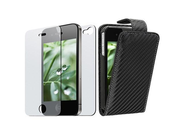 Insten Black Carbon Fiber Cell Phone - Case & Covers