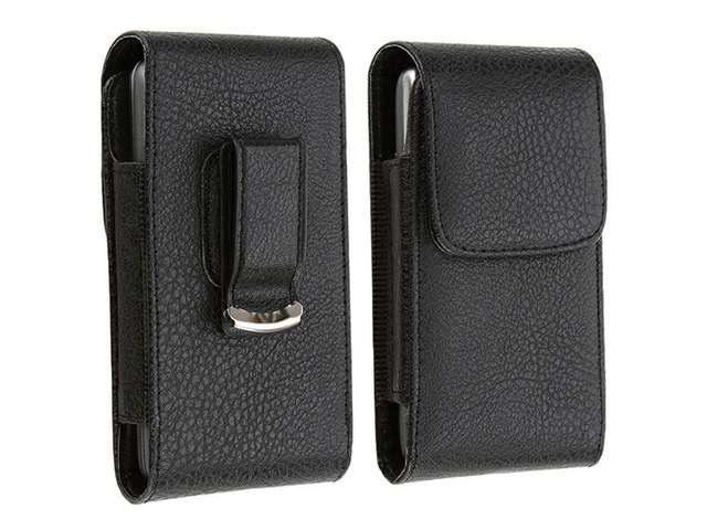 Insten Black Leather Phone Case with Magnetic Flap for Apple iPhone 5, 5C, 5S 614831