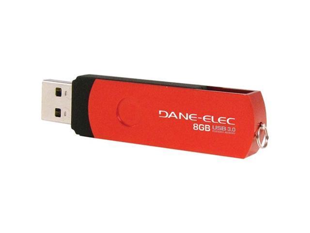 Dane-Elec 8 GB USB 3.0 Flash Drive - Red