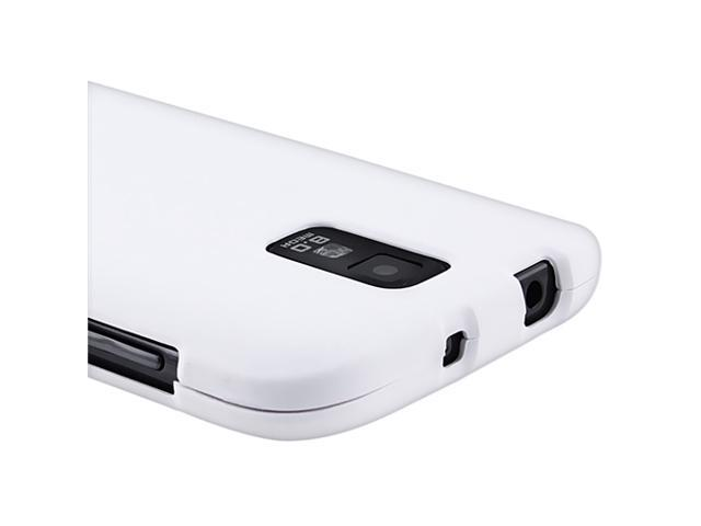 Snap-on Rubber Coated Case compatible with Samsung© SGH-T989 Galaxy S II Hercules(T-Mobile), White