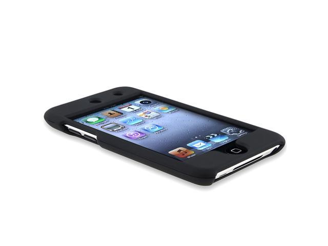 Black Hard Skin Case Cover compatible with iPod touch® 4th Gen 4G 4