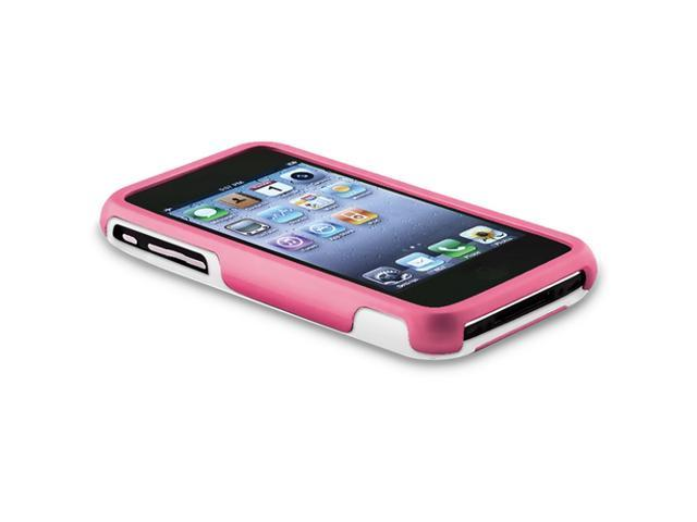 Snap-on Case compatible with Apple® iPhone® 3G / 3GS, Pink / White Cup Shape