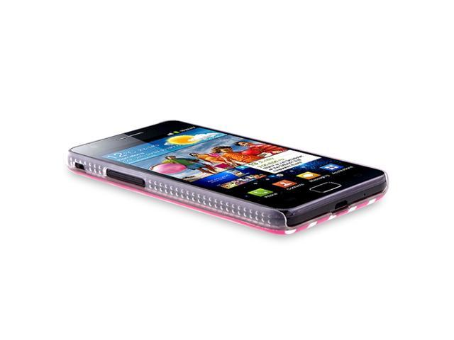IMD Case compatible with SAM Galaxy S II i9100, Hot Pink/White Dot