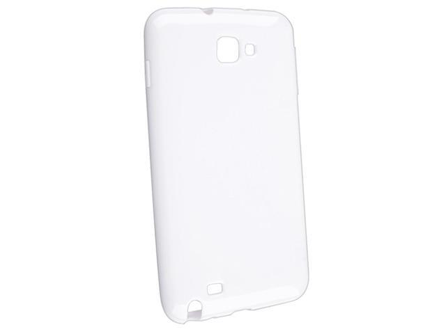 TPU Rubber Skin Case compatible with Samsung© Galaxy Note N7000, White Jelly