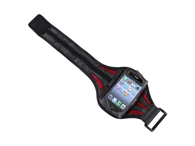 Deluxe ArmBand compatible with Apple® iPod touch® 2nd / 3rd Gen, Black / Red