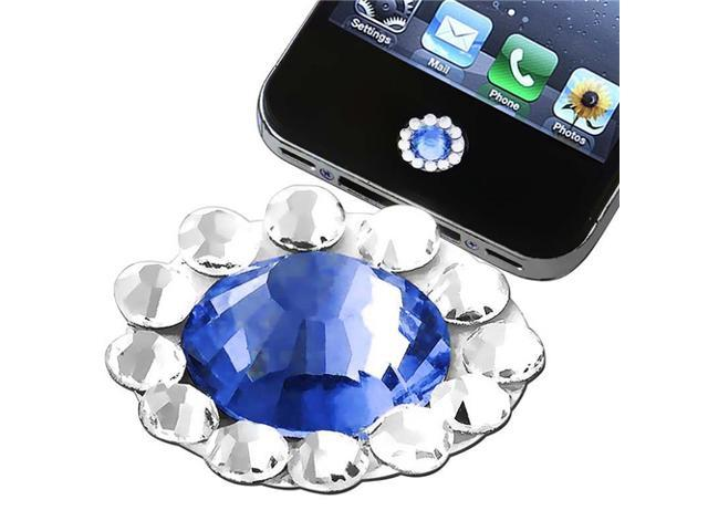 Home Button Sticker compatible with Apple® iPhone® / iPad® / iPod touch®, Blue Diamond