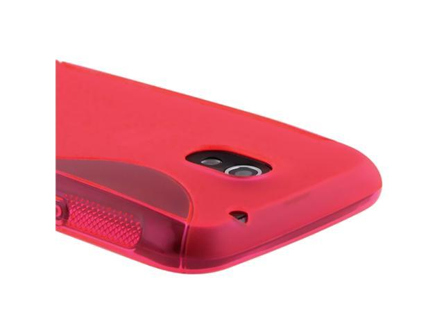 TPU Rubber Skin Case compatible with Samsung© Galaxy Nexus i515, Frost Hot Pink S Shape