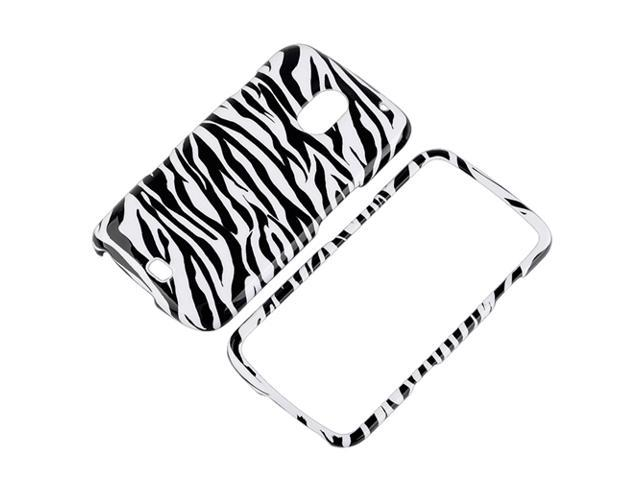 Snap-on Case compatible with Samsung© Galaxy Nexus i515, Black / White Zebra
