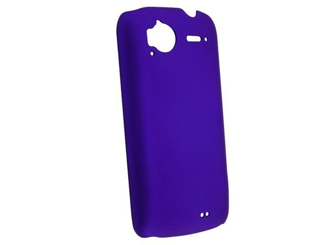 Snap-on Rubber Coated Case compatible with HTC Sensation, Dark Blue Rear