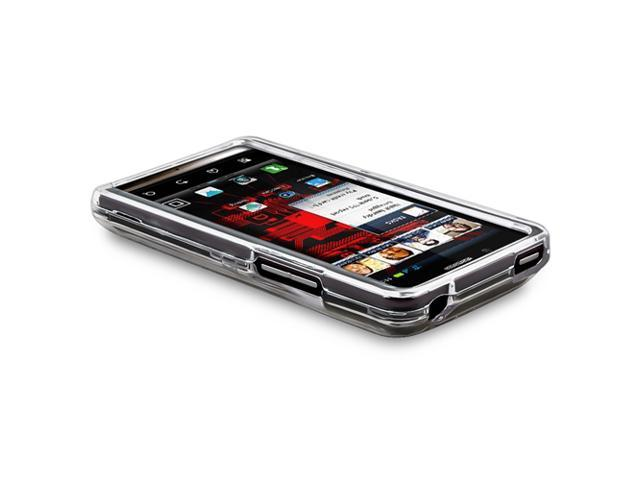 Snap-on Crystal Case compatible with Motorola Droid Bionic XT875, Clear