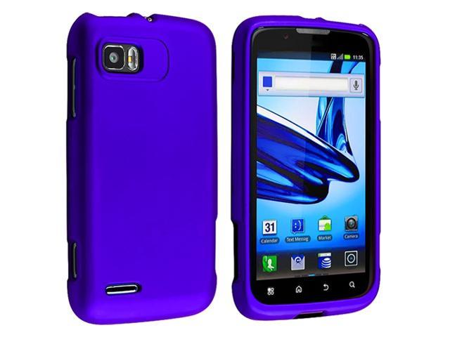 Snap-on Rubber Coated Case compatible with Motorola Atrix 2 MB865, Blue