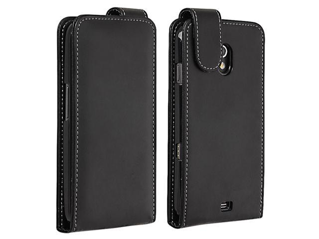 Leather Case compatible with Samsung© Galaxy Nexus i9250, Black