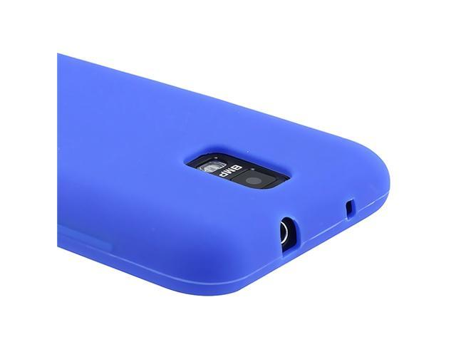 Silicone Skin Case compatible with Samsung© Galaxy S II Skyrocket i727, Blue