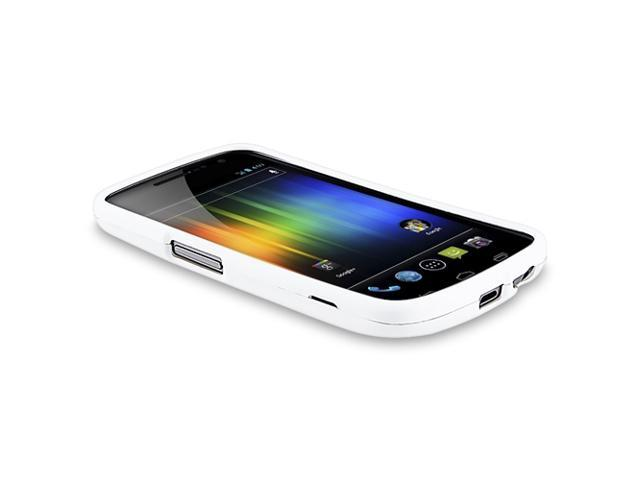 Snap-on Rubber Coated Case compatible with Samsung© Galaxy Nexus i9250 / i515, White