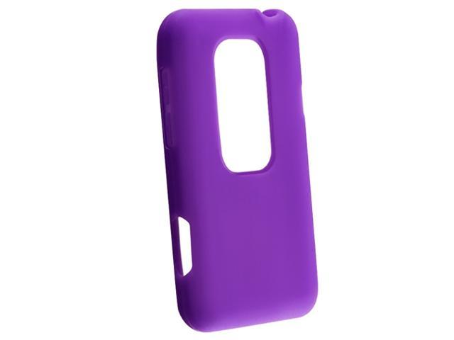 Silicone Skin Case compatible with HTC EVO 3D, Dark Purple