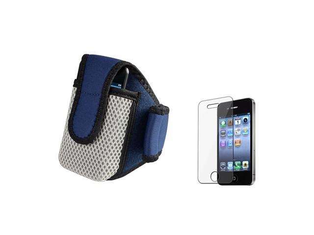 Accessory compatible with Apple® iPhone® 4 s 4s 4G SPORTS JOGGING Armband Case Cover+PROTECTOR