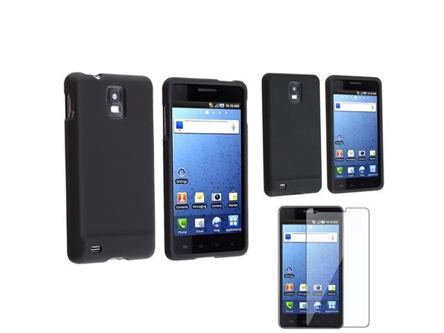 2 Black Skin Case+Rubber Hard Case+1 Sceen Protector compatible with Samsung© Infuse 4G i997