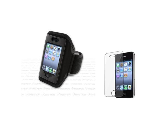 INSTEN Running ArmBand+Screen Film compatible with iPhone® 4 4S 4G 4GS 4G 4th