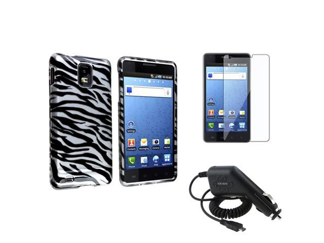 compatible with Samsung© Infuse 4G Zebra Hard Case Cover+LCD+Charger