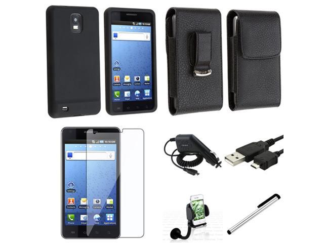 compatible with Samsung© Infuse 4G i997 Mega Accessory Case+USB+Film+Car Mount+Car Charger