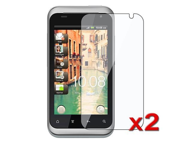 Transparent Clear LCD Screen Protector Film compatible with HTC Rhyme (Twin Pack)