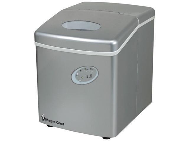 MAGIC CHEF MCIM22TS 27-lb portable mini ice maker ,silver