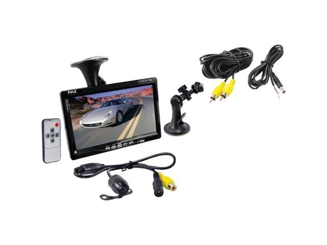 Pyle - 7'' Window Suction Mount TFT/LCD Video Monitor w/ Universal Mount Rearview Backup Color Camera w/ Distance Scale Line Camera