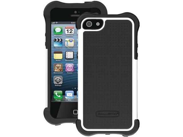 Ballistic Sx0945-M385 Sg Maxx Case With Holster compatible with iPhone® 5 ,Black Silicone/Black Tpu/White Pc