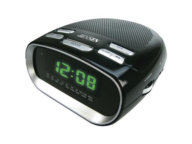 jensen jcr 260 phone charging dual alarm clock radio. Black Bedroom Furniture Sets. Home Design Ideas