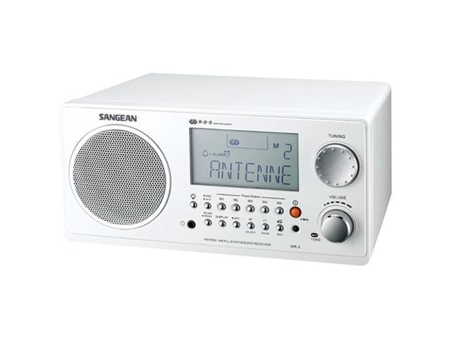 Sangean Wr-2Wh Hi-Fi Table Top Am/Fm-Rds Wooden Cabinet Digital Tuning Receiver ,White