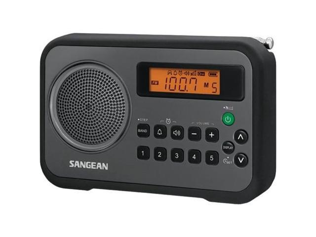 sangean pr d18bk am fm digital portable receiver with alarm clock black. Black Bedroom Furniture Sets. Home Design Ideas