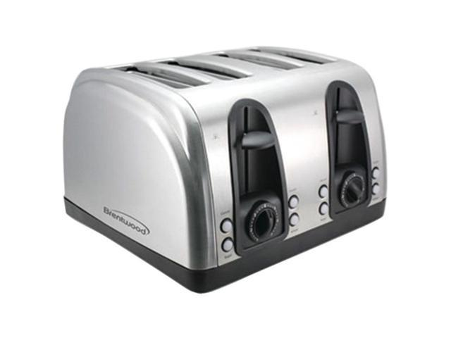BRENTWOOD TS-445S 4-Slice Elegant Toaster with Brushed Stainless Steel Finish