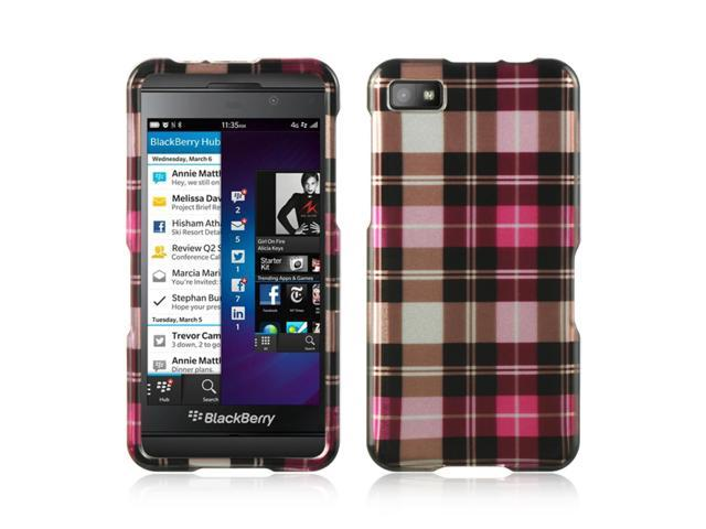 BlackBerry Z10 Case, eForCity Rubberized Hard Snap-in Case Cover Compatible With BlackBerry Z10, Pink/Brown