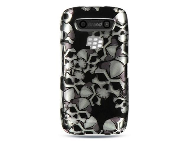 BlackBerry Torch 9850/9860 Case, eForCity Rubberized Hard Snap-in Case Cover Compatible With BlackBerry Torch 9850/9860, Black/White