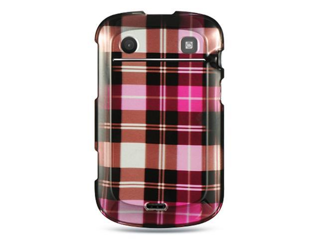 BlackBerry Bold Touch 9900/9930 Case, eForCity Rubberized Hard Snap-in Case Cover Compatible With BlackBerry Bold Touch 9900/9930, Hot Pink/Brown