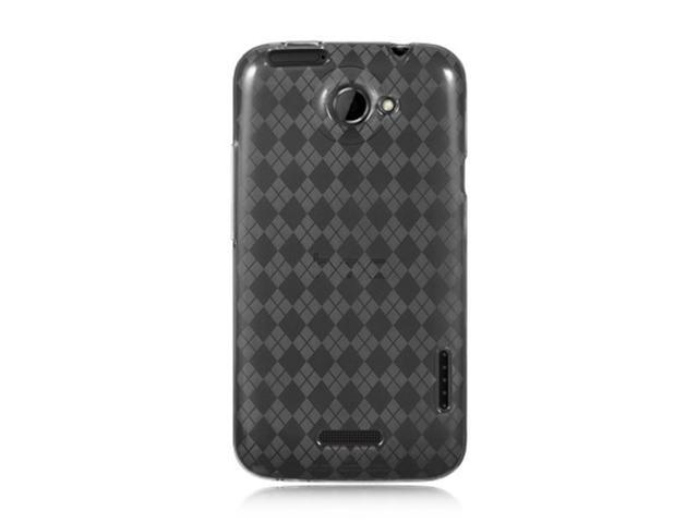 HTC One X Case, Checker eForCity TPU Rubber Candy Skin Case Cover Compatible With HTC One X, Smoke