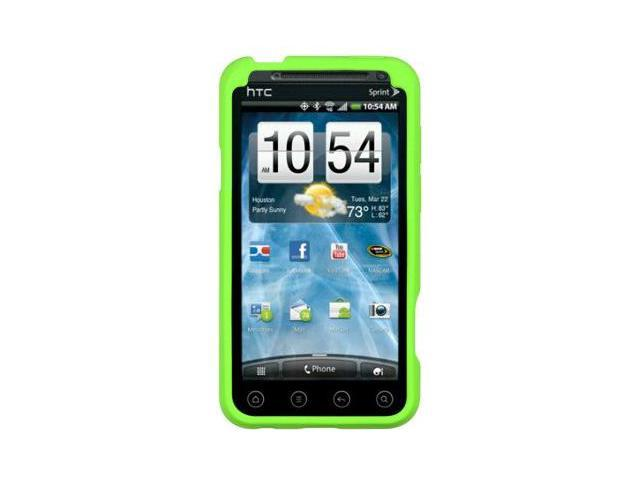 Luxmo Green Gel Skin Case Cover for HTC EVO 3D 885926029973