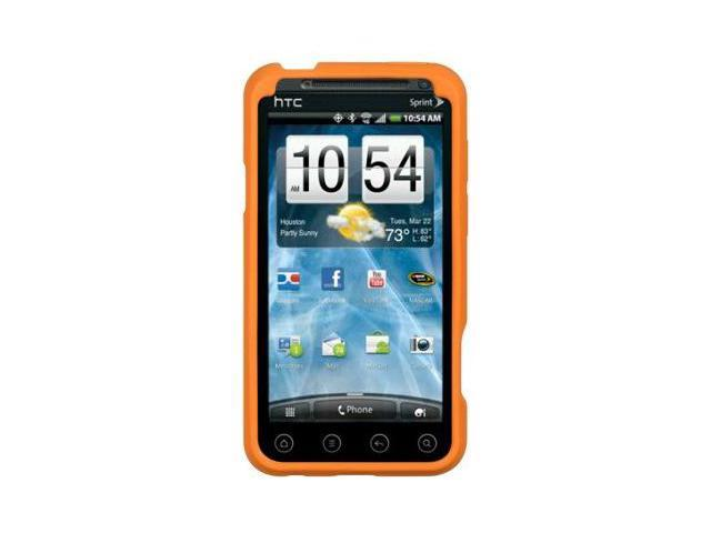 HTC EVO 3D Gel Skin Case Cover - Orange