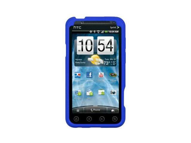 HTC EVO 3D Gel Skin Case Cover - Blue